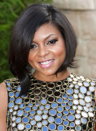 Taraji P. Henson Short, Straight, Layered, Black Bob