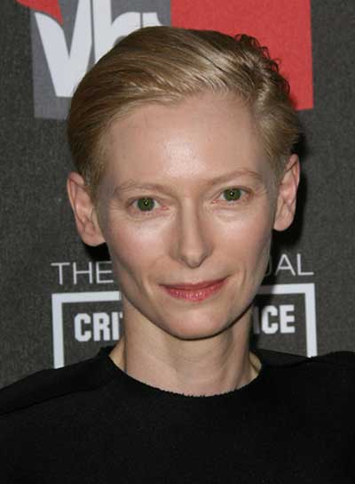 Tilda Swinton Straight, Blonde, Chic Hairstyle