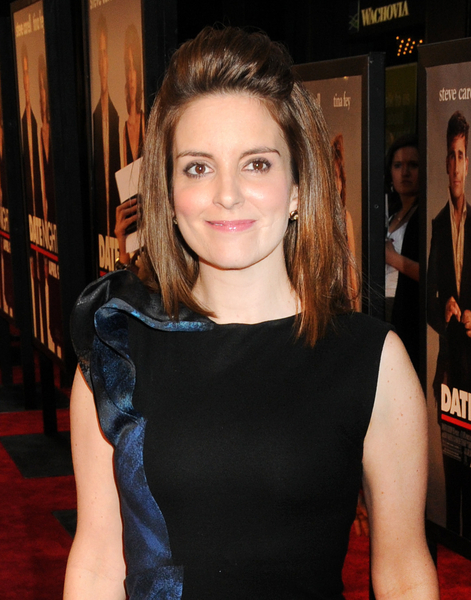 Tina Fey Short, Straight, Brunette Hairstyle