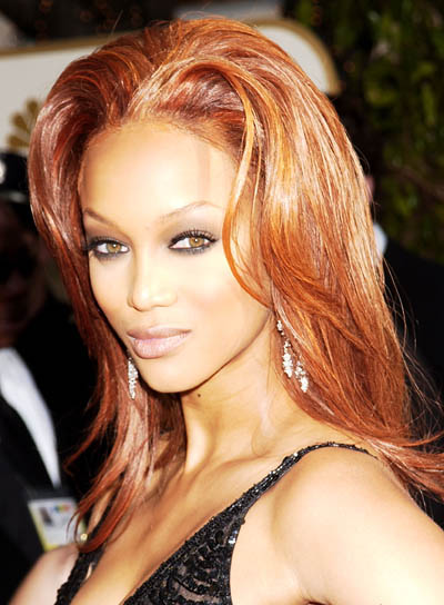 Tyra Banks Long, Wavy, Party Hairstyle