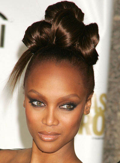 Tyra Banks Funky, Party Updo