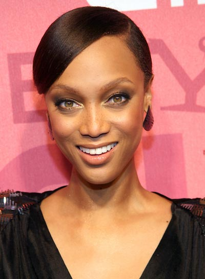 Tyra Banks Straight, Sophisticated Updo
