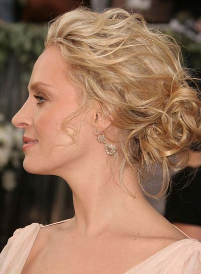 Uma Thurman Romantic Updo