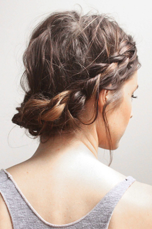 Attractive Short Updo Hairstyle