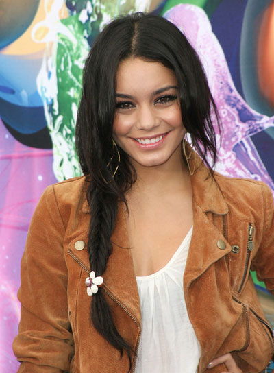 Vanessa Hudgens Long, Chic Hairstyle with Braids and Twists
