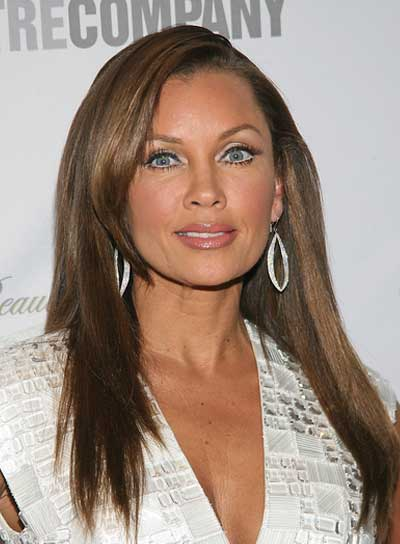 Vanessa Williams Long, Straight, Brunette Hairstyle