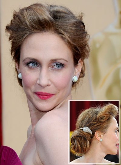 Vera Farmiga Funky, Sophisticated Updo
