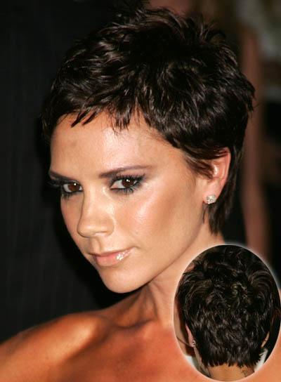 Victoria Beckham Short, Layered Hairstyle