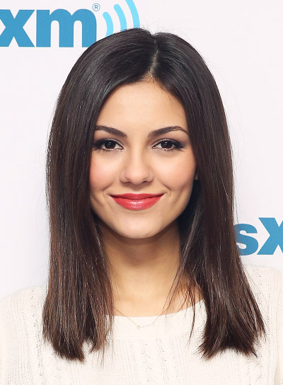 Victoria Justice with a Straight, Medium, Brown, Chic Hairstyle Pictures