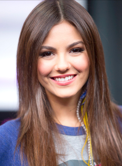 Victoria Justice's Long, Chic, Straight, Brunette, Hairstyle