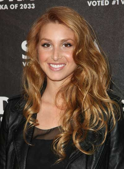 Whitney Port Long, Sexy, Wavy, Blonde Hairstyle
