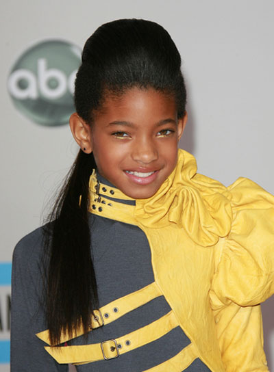 Willow Smith Long, Edgy, Funky, Black Ponytail