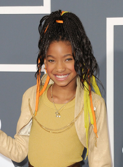 Willow Smith Funky, Edgy, Wavy, Black Updo